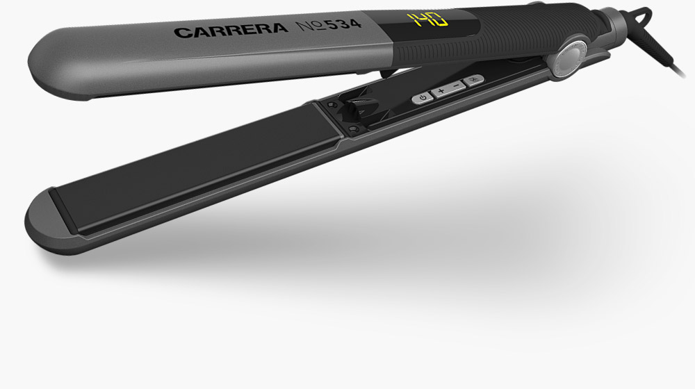 CARRERA №534 Ion Hair Straightener side view horizontal open