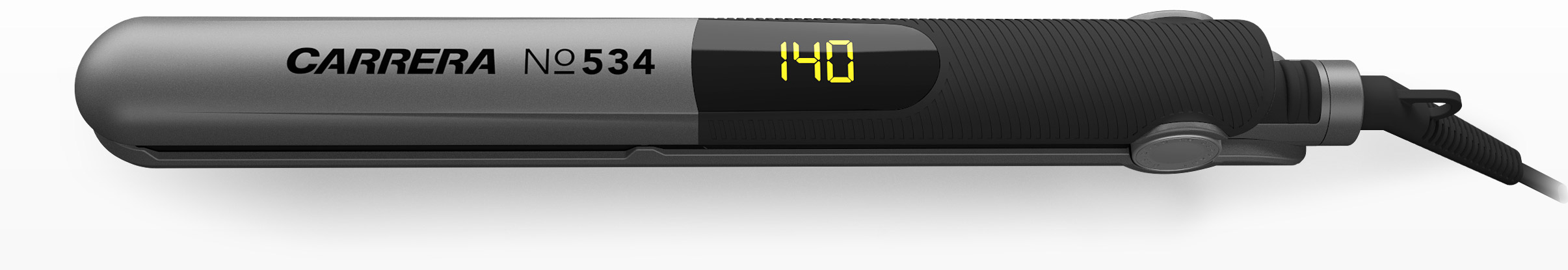 CARRERA №534 Ion Hair Straightener horizontal with temperatur display 140 degrees
