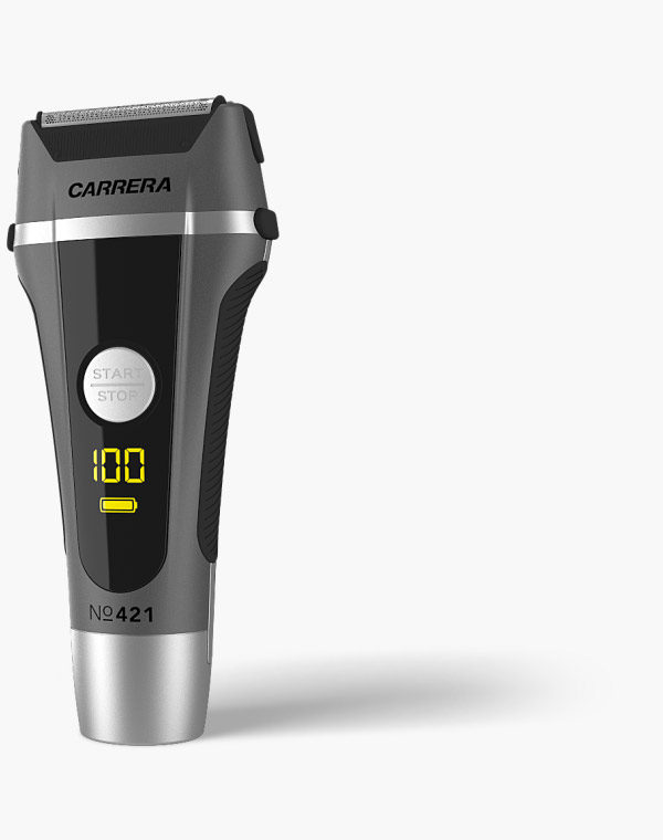 CARRERA №421 Shaver for ladies & gentlemen with battery in total view