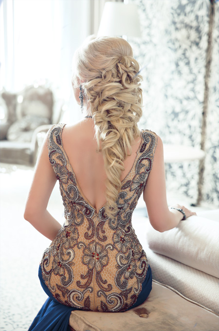 elegant dress hairstyle