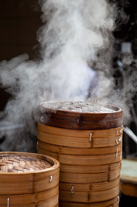 steaming asian